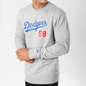 11604004_Sweat MLB Los Angeles Dodgers New Era Team Apparel Script gris pour homme