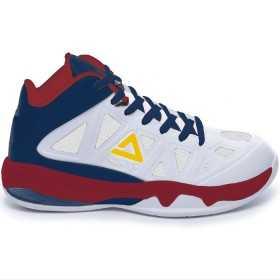 Kids' Peak Victor white navy basketball shoe