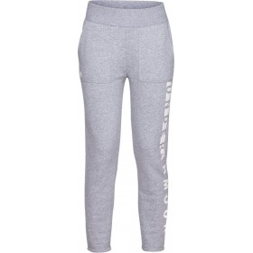 1317858-035_Pantalon de Jogging Under Armour Rival toison Gris pour Femme