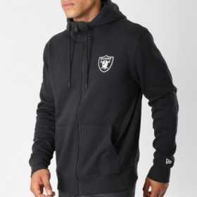 11604025_Veste Zippé NFL Oakland Raiders New Era Team Apparel NO Noir pour homme
