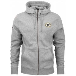 11604033_Veste Zippé NFL Greenbay Packers New Era Team Apparel Number Gris pour homme