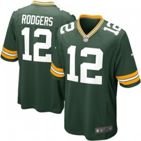 EZ1B7N1P9RODGERS_Maillot NFL Aaron Rodgers Greenbay Packers Nike Game Team Vert pour junior