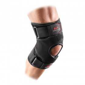 4203_Genouillère Mcdavid Vow Knee Wrap renforts+straps noir