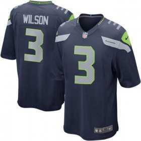 EZ1B7N1P9WILSON_Maillot NFL Seattle Seahawks Russell Wilson Nike Game Team pour junior Bleu marine