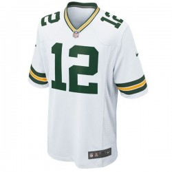 EZ1B7N1P9RODGERSW_Maillot NFL Aaron Rodgers Greenbay Packers Nike Game Team Blanc pour junior