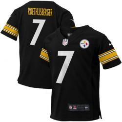 EZ1B3N1P9ROTH_Maillot NFL Ben Roethlisberger Pittsburgh Steelers Nike Game Team pour enfant Noir