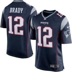 EZ1B7N1P9BRAD_Maillot NFL Tom Brady New England Patriots Nike Game Team pour Junior Bleu Marine