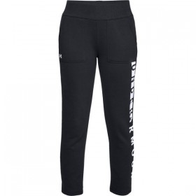 Under Armour Slim Rival toison Jogging Pants para Mujer negro