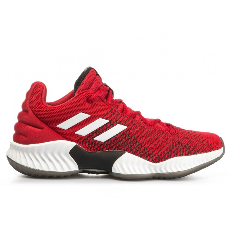 b8b2059a1cc2f B41868_Chaussures de Basketball adidas Pro Bounce 2018 low Rouge pour homme
