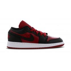 553560-610_Chaussure de Basket Air jordan 1 low BG Rouge pour Junior