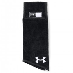 1304700-001_Serviette de football américain Under armour Undeniable Player Towel Noir