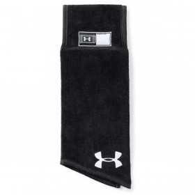 1304700-001_Serviette de football américain Under armour Undeniable Player Towel Noir