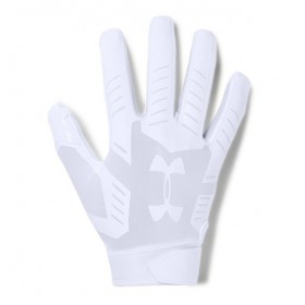 1304694-100_Gant de Football Americain Under Armour F6 Pour Receveur blanc