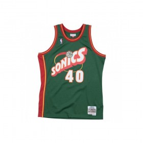 MN-NBA-353J-324-FGYSKM-SEASUP_Maillot NBA Shawn kemp Seatle Supersonics 1995-96 Mitchell & ness Hardwood Classic Swingman vert