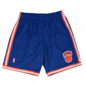 MN-NBA-540B-NYKNIC-ROY_Short NBA New York Knicks 1991-92 Mitchell & Ness Swingman Road Bleu pour Homme