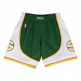MN-NBA-540B-SEASUP-GREWHT_Short NBA Seattle Supersonics Mitchell & Ness Swingman Road Vert pour Homme