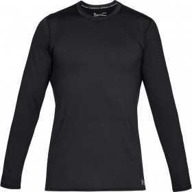 1332491-001_T-shirt manches longues Under Armour Fitted Coldgear Crew Noir pour Homme