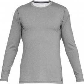 1332491-019_T-shirt manches longues Under Armour Fitted Coldgear Crew Gris pour Homme
