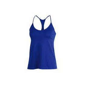 1325580-436_Débardeur Under Armour Heatgear Solid Fashion Bleu pour femme