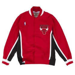 MN-NBA-6056-CHIBU-RED_Warm up NBA Chicago Bulls 1992-93 Mitchell & Ness Authentic Jacket Rouge pour Homme
