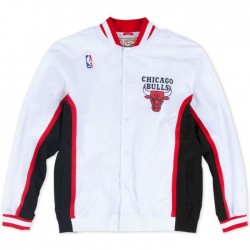 MN-NBA-6056-CHIBU-WHT_Warm up NBA Chicago Bulls 1992-93 Mitchell & Ness Authentic Jacket Blanc pour Homme