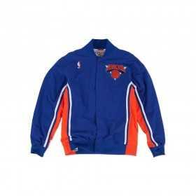 MN-NBA-6056-NYKNIC-ROY_Warm up NBA New York Knicks 1992-93 Mitchell & Ness Authentic Jacket Bleu pour Homme