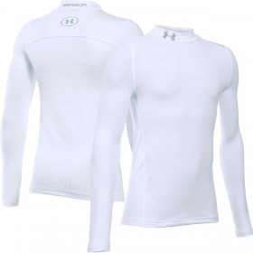 1288343-100_Maillot de compression pour enfant Under Armour Coldgear Armour Mock Blanc