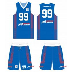 meilleur authentique e7690 2f14a maillot et short Sublimé Personnalisable Pro Game Basketball Sportland  American