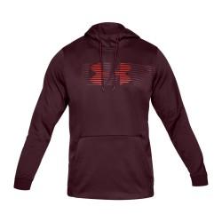 Men's Under armour Fleece Spectrum PO Hoodie black red