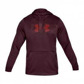 1320748-600_Sweat à capuche Under armour Fleece Spectrum PO Hoodie Black Rouge Pour Homme