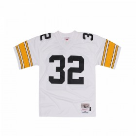7354-2D3-76FHARR_Maillot NFL Franco Harris Pittsburgh Steelers Mitchell & Ness Legacy Retro Blanc pour Homme