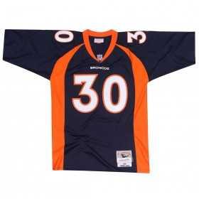 7354-239-98TDAVI_Maillot NFL Davis Denver Broncos 1998 Mitchell & Ness Legacy Retro Bleu pour Homme