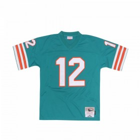 7354-204-72BOGRI_Maillot NFL Bob Griese Miami Dolphins 1972 Mitchell & Ness Legacy Retro Vert pour Homme