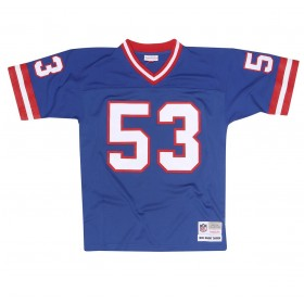 7354-206-86HCARS_Maillot NFL Harry Carson New York Giants 1986 Mitchell & Ness Legacy Retro Bleu pour Homme