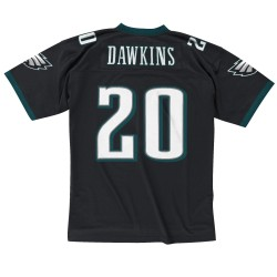 7354-23E-04BDAWK_Maillot NFL Brian Dawkins Philadelphia Eagles 2004 Mitchell & Ness Legacy Retro Noir pour Homme