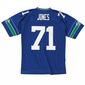 7354-286-99WJONE_Maillot NFL Walter Jones Seattle Seahawks 1999 Mitchell & Ness Legacy Retro Bleu pour Homme