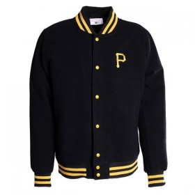 11603982_Bomber MLB Pittsburgh Pirates New Era Team Apparel Varsity Jacket Noir