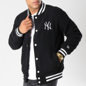11603983_Bomber MLB New York Yankees New Era Team Apparel Varsity Jacket Noir