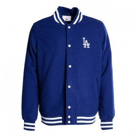 11603985_Bomber MLB Los Angeles Dodgers New Era Team Apparel Varsity Jacket Bleu