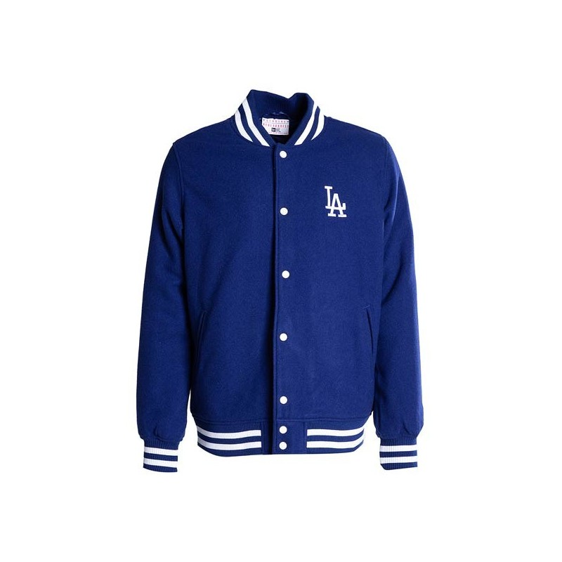 Bomber Mlb Los Angeles Dodgers New Era Team Apparel Varsity Jacket Bleu
