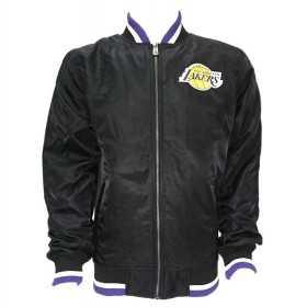 11604094_Bomber NBA Los Angeles Lakers New Era Team Apparel Varsity Noir pour Homme