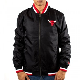 11604097_Bomber NBA Chicago Bulls New Era Team Apparel Varsity Noir pour Homme