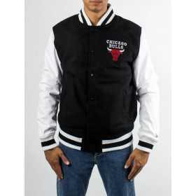 11604130_Veste NBA Chicago Bulls New Era Contrast Varsity Noir pour Homme