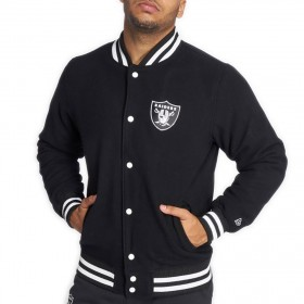 11605882_Bomber NFL Oakland Raiders New Era Team Apparel Varsity Jacket Noir pour homme