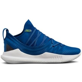 "3020657-401_Chaussure de Basketball Under Armour Curry 5 ""Moroccan Blue"" Bleu Pour Homme"