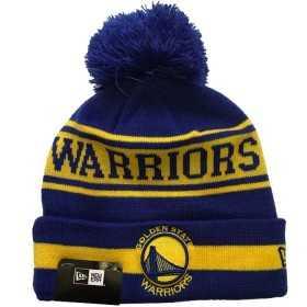11794604_Bonnet NBA Golden State Warriors New Era Team Jake avec pompon bleu