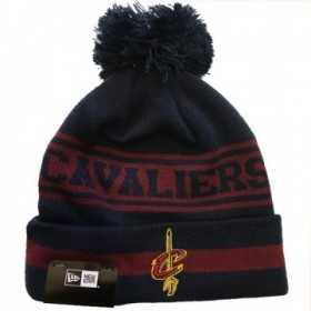 11794605_Bonnet NBA Cleveland Cavaliers New Era Team Jake avec pompon rouge