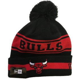 11794606_Bonnet NBA Chicago Bulls New Era Team Jake avec pompon Noir