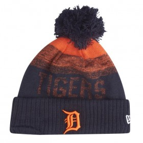 11794652_Bonnet MLB Detroit Tigers New Era Sport Knit avec pompon Noir