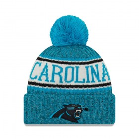 11768199_Bonnet NFL Carolina Panthers New Era On Field 2018 à pompon Bleu
